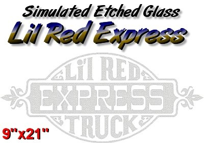 Etched Glass Lil Red Express
